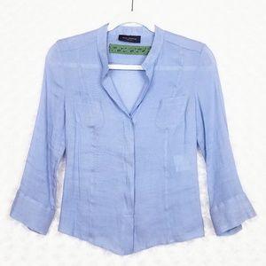Piazza Sempione Blue Linen Shirt